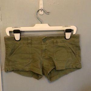 Green Hollister shorts